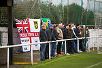 Holker Old Boys 2 Crook Town 1, 10/10/2020. Rakesmoor, FA Vase second round qualifying. Visiting supporters watching the first-half action as Holker Old Boys take on Crook Town in an FA Vase second round qualifying tie at Rakesmoor, Barrow-in-Furness. The home club was established in 1936 as Holker Central Old Boys and was initially an under-16 team for former pupils of the Holker Central Secondary School. Holker from the North West Counties League beat their Northern League opponents 2-1, watched by a crowd of 147 spectators. Photo by Colin McPherson.