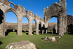 United Kingdom, Wales, Monmouthshire, near Abergavenny: Ruins of Llanthony Priory (former Augustinian Priory) at Brecon Beacons National Park | Grossbritannien, Wales, Monmouthshire, bei Abergavenny: Ruinen des Klosters Llanthony Priory (frueher Augustinian Priory) im Brecon Beacons National Park