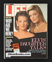 Life magazine cover, Lisa Marie and Priscilla Presley, December 1988. Photo by John G. Zimmerman.