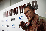 """Zombie during an event with fans of """"The Walking Dead"""" at Cines Capitol in Madrid. March 09, 2017. (ALTERPHOTOS/Borja B.Hojas)"""