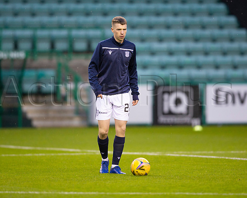 15th November 2020; Easter Road, Edinburgh, Scotland; Scottish League Cup Football, Hibernian versus Dundee FC; Jack Wilkie of Dundee during the warm up before the match