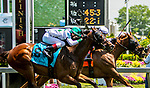 MAYL 17, 2019 :  Race 4: Risng Perry #7 holds off Time Flies By at Pimlico Racecourse, on May 17, 2019 in Baltimore, MD.  Sue Kawczynski_ESW_CSM