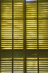 Pattern from light through wooden window shutters. Tuscany Italy. 2010. 2010s.