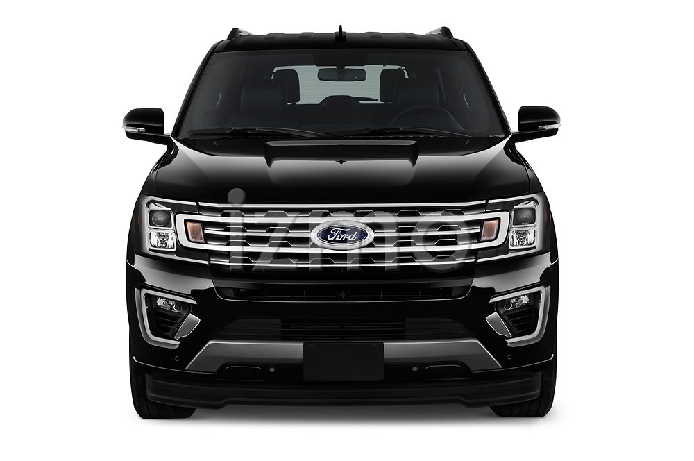 Car photography straight front view of a 2019 Ford Expedition XLT MAX 4x2 5 Door SUV