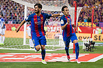 FC Barcelona's midfielder Andre Gomes and forward Neymar Santos Jr celebrating a goal during Copa del Rey (King's Cup) Final between Deportivo Alaves and FC Barcelona at Vicente Calderon Stadium in Madrid, May 27, 2017. Spain.<br /> (ALTERPHOTOS/BorjaB.Hojas)