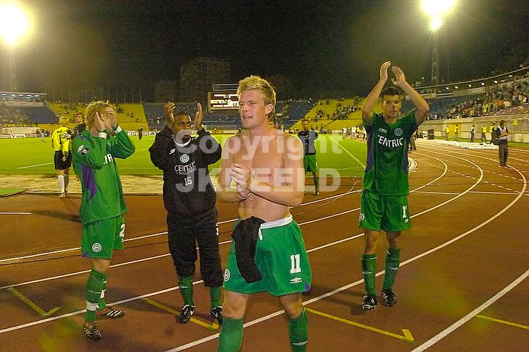 partizan belgrado - groningen  eerste ronde uefa cup 14-09-2006 seizoen 2006-2007