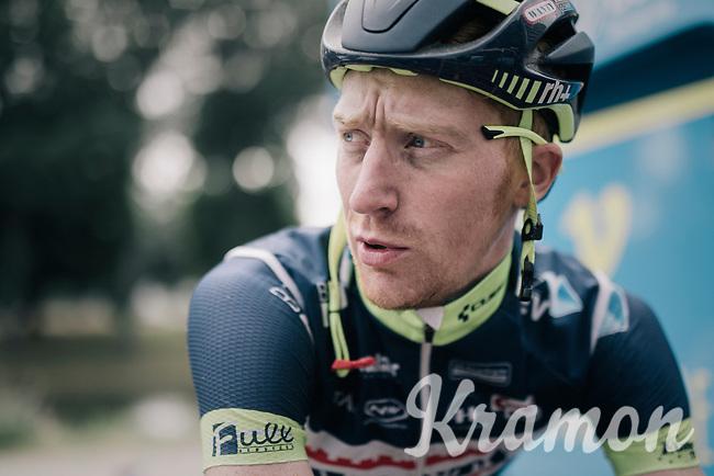 Frederik Backaert (BEL/Wanty Groupe-Gobert) warming down on the rollers after the stage<br /> <br /> 104th Tour de France 2017<br /> Stage 2 - Düsseldorf › Liège (203.5km)