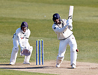 Kent's Grant Stewart bats during Kent CCC vs Yorkshire CCC, LV Insurance County Championship Group 3 Cricket at The Spitfire Ground on 16th April 2021