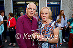 Jimmy and Eileen Moran as they close their shop after 34 years in Strand road on Friday.