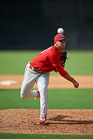 Philadelphia Phillies pitcher Luis Pacheco (76) delivers a pitch during a Florida Instructional League game against the New York Yankees on October 11, 2018 at Yankee Complex in Tampa, Florida.  (Mike Janes/Four Seam Images)