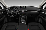 Stock photo of straight dashboard view of 2017 Mazda CX-5 Grand Touring 5 Door SUV
