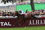 October 01, 2017, Chantilly, FRANCE- Enable with Frankie Dettori up wins the Qatar Prix de l'Arc de Triomphe (Gr. I) at  Chantilly Race Course  [Copyright (c) Sandra Scherning/Eclipse Sportswire)