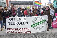 """Anlaesslich des internationalen Aktionstag gegen Rassismus und rechte Parteien demonstrierten am Samstag den 17. Maerz 2018 mehrere hundert Menschen in Berlin mit einem """"Marsch gegen Rassismus"""" unter dem Motto """"Refugees Welcome! Stoppt die AfD!"""".<br /> Unterstuetzt wurde der Marsch gegen Rassismus von verschiedenen antirassistischen Gruppe, linken Parteien und dem Zentralrat der Muslime in Deutschland.<br /> 17.3.2018, Berlin<br /> Copyright: Christian-Ditsch.de<br /> [Inhaltsveraendernde Manipulation des Fotos nur nach ausdruecklicher Genehmigung des Fotografen. Vereinbarungen ueber Abtretung von Persoenlichkeitsrechten/Model Release der abgebildeten Person/Personen liegen nicht vor. NO MODEL RELEASE! Nur fuer Redaktionelle Zwecke. Don't publish without copyright Christian-Ditsch.de, Veroeffentlichung nur mit Fotografennennung, sowie gegen Honorar, MwSt. und Beleg. Konto: I N G - D i B a, IBAN DE58500105175400192269, BIC INGDDEFFXXX, Kontakt: post@christian-ditsch.de<br /> Bei der Bearbeitung der Dateiinformationen darf die Urheberkennzeichnung in den EXIF- und  IPTC-Daten nicht entfernt werden, diese sind in digitalen Medien nach §95c UrhG rechtlich geschuetzt. Der Urhebervermerk wird gemaess §13 UrhG verlangt.]"""