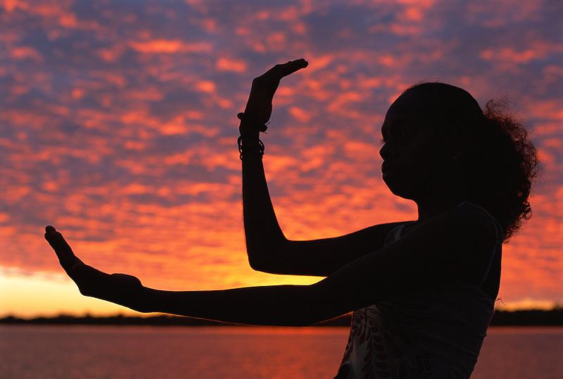 Dance silhouette, Aurukun, Cape York Peninsula.