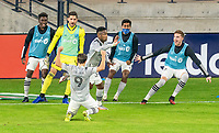 WASHINGTON, DC - NOVEMBER 8: Romell Quioto #30 of the Montreal Impact celebrates a goal during a game between Montreal Impact and D.C. United at Audi Field on November 8, 2020 in Washington, DC.