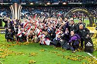 River Plate celebrating the championship after  Commebol Final Match between River Plate and Boca Juniors at Santiago Bernabeu Stadium in Madrid, Spain. December 09, 2018. (ALTERPHOTOS/Borja B.Hojas) /NortePhoto.com