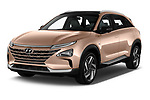 2019 Hyundai Nexo - 5 Door SUV Angular Front automotive stock photos of front three quarter view