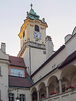 Innenhof altes Rathaus, Bratislava, Bratislavsky kraj, Slowakei, Europa<br /> courtyard of old Townhall, Bratislava, Bratislavsky kraj, Slovakia, Europe