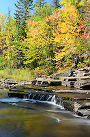 Signs of early autumn along the beautiful Sturgeon River Gorge. Alberta, MI