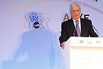 Writer Mario Vargas Llosa attends the 'El Canon del Boom' literary congress at the Casa de America on November 5, 2012 in Madrid, Spain. .(ALTERPHOTOS/Harry S. Stamper)