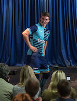 New Signing Daryl Southwell shows off the new kit during the Wycombe Wanderers 2016/17 Kit launch to the Public at Adams Park, High Wycombe, England on 10 July 2016. Photo by Andy Rowland.