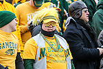 North Dakota State and Illinois Redbird fans watch the action during the FCS Championship game between the North Dakota State Bison and the Illinois State Redbirds at the Toyota Stadium in Frisco, Texas. North Dakota defeats Illinois 29 to 27.