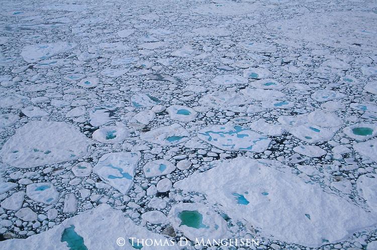 Sea ice breaking up.