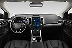 Stock photo of straight dashboard view of 2021 Ford Edge Titanium-FWD 5 Door suv Dashboard