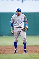 Burlington Royals first baseman Brandon Dulin (26) on defense against the Pulaski Mariners at Calfee Park on June 20, 2014 in Pulaski, Virginia.  The Mariners defeated the Royals 6-4. (Brian Westerholt/Four Seam Images)