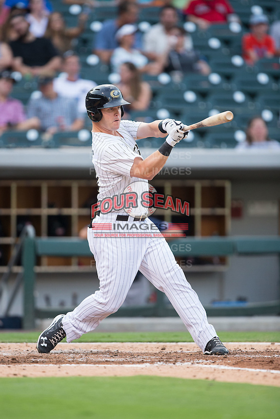 Jerry Sands (41) of the Charlotte Knights at bat against the Pawtucket Red Sox at BB&T BallPark on July 6, 2016 in Charlotte, North Carolina.  The Knights defeated the Red Sox 8-6.  (Brian Westerholt/Four Seam Images)