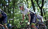 Johan Esteban Chaves (COL/Orica-GreenEDGE) up the Monte Ologno (1168m)<br /> <br /> Giro d'Italia 2015<br /> stage 18: Melide (SUI) - Verbania (170km)
