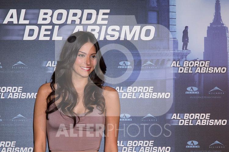 "Hotel Me. Madrid. Spain. Venezuelan actress Genesis Rodriguez presented in Madrid the film ""At the Abyss."".(Alterphotos/Marta Gonzalez)"