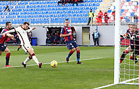 Borja Mayoral of AS Roma scores the goal of 0-1 during the Serie A football match between FC Crotone and AS Roma at stadio Ezio Scida in Crotone (Italy), January 6th, 2020. Photo Gino Mancini / Insidefoto