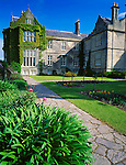 County Kerry, Ireland<br /> Muckross House, built in 1843, Elizabethan style. with landscaped gardens and pathway; Killarney National Park, on the Ring of Kerry