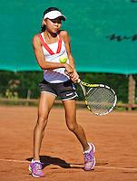 Netherlands, Dordrecht, August 03, 2015, Tennis,  National Junior Championships, NJK, TV Dash 35, Gigi Sy-A-Foek <br /> Photo: Tennisimages/Henk Koster