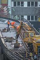 Baustelle der U-Bahnlinie 1 in Berlin Kreuzberg am Schlesischen Tor.<br /> 26.1.2021, Berlin<br /> Copyright: Christian-Ditsch.de