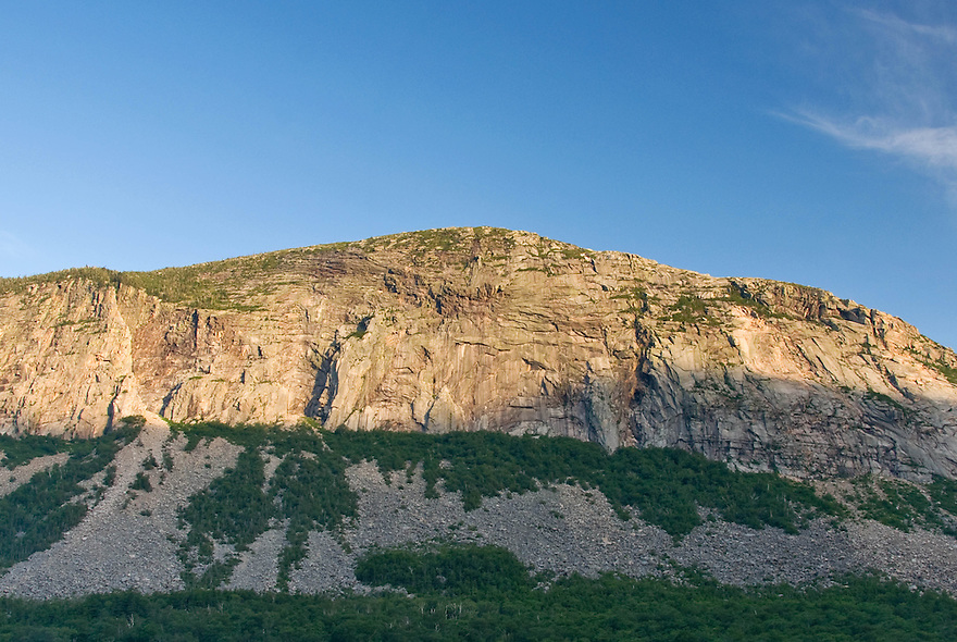 The hulking mass of Canon Cliff on an early summer morning.