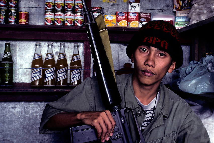NPA soldier/rebel in the Mountain province near Banaue, circa 1990