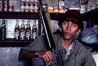 NPA soldier/rebel in the Mountain province near Banaue, circa 1990