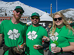 Nik Alberts, Dylan Cuneo and Haley Hemenes during the 28th annual Rocky Mountain Oyster Fry and St. Patrick's Day Parade in Virginia City, Nevada on Saturday March 16, 2019.