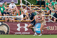 NEWTON, MA - MAY 22: Andie Aldave #13 of Notre Dame looks to pass during NCAA Division I Women's Lacrosse Tournament quarterfinal round game between Notre Dame and Boston College at Newton Campus Lacrosse Field on May 22, 2021 in Newton, Massachusetts.
