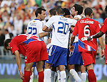 Zaragoza's players celebrate goal during La Liga match. September 27 2009. (ALTERPHOTOS/Acero).