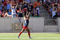 Houston, TX - Sunday Oct. 09, 2016: Crystal Dunn celebrates scoring during the National Women's Soccer League (NWSL) Championship match between the Washington Spirit and the Western New York Flash at BBVA Compass Stadium. The Western New York Flash win 3-2 on penalty kicks after playing to a 2-2 tie.