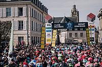 race start<br /> <br /> 116th Paris-Roubaix (1.UWT)<br /> 1 Day Race. Compiègne - Roubaix (257km)
