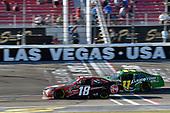 #18: Ryan Preece, Joe Gibbs Racing, Toyota Camry Rheem and #11: Ryan Truex, Kaulig Racing, Chevrolet Camaro LeafFilter Gutter Protection