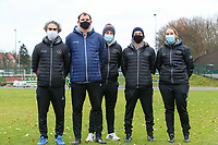 Staff of Woluwe pictured before a female soccer game between FC Femina White Star Woluwe and Sporting Charleroi on the 10 th matchday of the 2020 - 2021 season of Belgian Scooore Womens Super League , Saturday 19 th of December 2020  in Woluwe , Belgium . PHOTO SPORTPIX.BE | SPP | SEVIL OKTEM