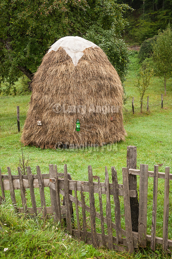 Haystack in a field in Mojkovac on the banks of the Tara River, Montenegro