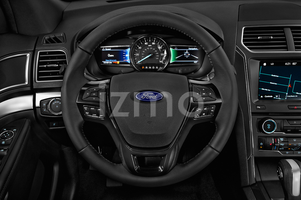 Car pictures of steering wheel view of a 2019 Ford Explorer XLT 5 Door SUV