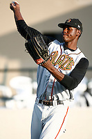 May 26 2007: John Mayberry,jr.of the Bakersfield Blaze before game against the Rancho Cucamonga Quakes at The Epicenter in Rancho Cucamonga,CA.  Photo by Larry Goren/Four Seam Images