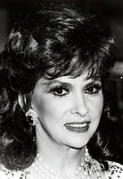 Montreal (Qc) CANADA - Oct 1985 File Photo - gina Lollobrigida at Italian week, The Bay store<br /> <br /> PHOTO :  Agence Quebec Presse